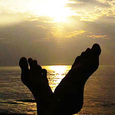 feet sea Kerala blog